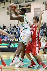 8 December 2017:   Boys High School BASKETBALL: Jacksonville Crimson v  Normal University High Pioneers at University High in Normal Illinois