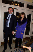 William Cash and Elizabeth Hurley, Grand Classics Screening of 'Out of the Blue' hosted by Dennis Hopper. Electric cinema, Portobello Rd. London. 15 November 2004. ONE TIME USE ONLY - DO NOT ARCHIVE  © Copyright Photograph by Dafydd Jones 66 Stockwell Park Rd. London SW9 0DA Tel 020 7733 0108 www.dafjones.com