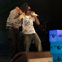 Dappy and Tinchy Stryder performing together on the opening night of the BBC 1Xtra Live tour at Manchester's O2 Apollo, 2011-11-28