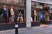 Suits Supply Store, closed during the coronavirus pandemic on the 2nd May 2020 in London, United Kingdom.