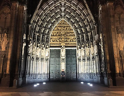 """Thomas Hayo releases a photo on Instagram with the following caption: """"Different Country, More stunning Architecture and Sculpture! The 'K\u00f6lner Dom' one of my favorite buildings in Germany reminding me how tiny I actually am! #Gothic #Cathedral #Cologne #Nocturnal #Magic"""". Photo Credit: Instagram *** No USA Distribution *** For Editorial Use Only *** Not to be Published in Books or Photo Books ***  Please note: Fees charged by the agency are for the agency's services only, and do not, nor are they intended to, convey to the user any ownership of Copyright or License in the material. The agency does not claim any ownership including but not limited to Copyright or License in the attached material. By publishing this material you expressly agree to indemnify and to hold the agency and its directors, shareholders and employees harmless from any loss, claims, damages, demands, expenses (including legal fees), or any causes of action or allegation against the agency arising out of or connected in any way with publication of the material."""