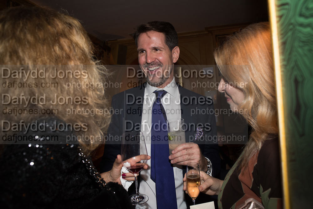 PRINCE PAVLOS OF GREECE, Pedro Girao of Christies and Duncan Macintyre of Lombard Odier host the last dinner at the Old Annabels. 44 Berkeley Sq. London. 15 November 2018
