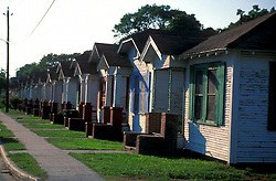 Stock photo of a neighborhood in The Houston Heights