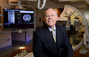 Portrait of Mark E. Robitaille, former president of Martin Health Systems in Florida for an editorial story. This image was taken inside the interventional radiology suite in Stuart, FL
