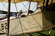 """Engine test run on Curtiss JN-4D """"Jenny"""" at 2017 Hood River Fly-In."""