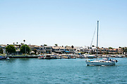 Sailing In Newport Harbor on A Sunny Day