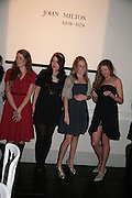 HERMIONE PILKINGTON, AMBER GUINNESS, GRACE PILKINGTON AND ELEANOR MORRISON, Dinner in aid of 'Action Trust For the Blind organised by Matthew Carr. 20th Century Theatre. Westbourne Gro. London. 26 September 2007. -DO NOT ARCHIVE-© Copyright Photograph by Dafydd Jones. 248 Clapham Rd. London SW9 0PZ. Tel 0207 820 0771. www.dafjones.com.