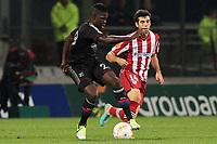 FOOTBALL - UEFA EUROPA LEAGUE 2012/2013 - GROUP STAGE - GROUP I - OLYMPIQUE LYONNAIS v ATHLETIC BILBAO - 25/10/2012 - PHOTO EDDY LEMAISTRE / DPPI - SAMUEL UMTITI  (OL) AND MARKEL SUSAETA   (ACB)