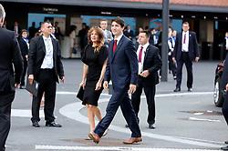 July 7, 2017 - Hamburg, Hamburg, Deutschland - Justin Trudeau mit Gattin Sophie Gregoire Trudeau bei der Ankunft zu einem Konzert in der Elbphilharmonie im Rahmen des G20-Gipfel. Hamurg, 07.07.2017 (Credit Image: © Future-Image via ZUMA Press)
