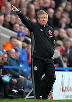 Sheffield United's Manager Chris Wilder<br /> <br /> Photographer /Mick WalkerCameraSport<br /> <br /> The EFL Sky Bet League One - Chesterfield v Sheffield United - Sunday 13th November 2016 - Proact Stadium - Chesterfield<br /> <br /> World Copyright © 2016 CameraSport. All rights reserved. 43 Linden Ave. Countesthorpe. Leicester. England. LE8 5PG - Tel: +44 (0) 116 277 4147 - admin@camerasport.com - www.camerasport.com