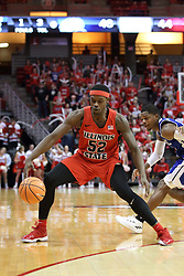 21 February 2018:  Milik Yarbrough during a College mens basketball game between the Drake Bulldogs and Illinois State Redbirds in Redbird Arena, Normal IL