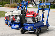 Product photography of graco paint grinders taken on the street
