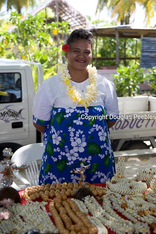 Shell necklaces, Takapoto, Tuamotu Islands, French Polynesia, (Editorial use only)<br />