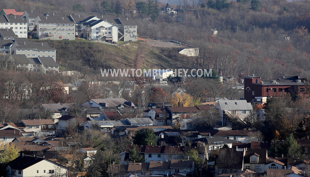 Kiryas Joel, New York  - A view of part of the Hasidic village of Kiryas Joel on Nov. 12, 2011. The village population of 22,000 is mostly ultra-Orthodox Satmar Hasidic Jews living in high-density townhouses and condominnium complexes.