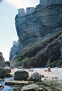 stranda ved Bonifacio, Korsika..dias Sardinia, Italy.