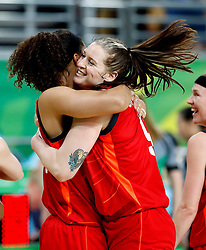 England's Hannah Shaw celebrates silver after the Women's Gold Medal Game at the Gold Coast Convention and Exhibition Centre during day ten of the 2018 Commonwealth Games in the Gold Coast, Australia.
