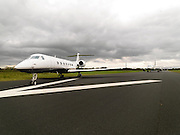A private jet parked beside a tourist jet at Kerry Airport in Faranfore, County Kerry..Picture by Don MacMonagle