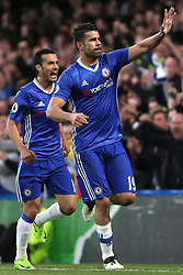 8 May 2017 - Premier League Football - Chelsea v Middlesbrough<br /> Diego Costa of Chelsea celebrates scoring their 1st goal<br /> Photo: Charlotte Wilson