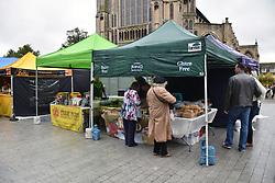 Gluten free food fair outside the Forum, Norwich, October 2017