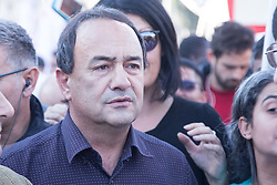 November 10, 2018 - Roma, RM, Italy - Mayor of Riace Mimmo Lucano..Demonstration in Rome against the Italian Government, racism and the Salvini Decree (Credit Image: © Matteo Nardone/Pacific Press via ZUMA Wire)