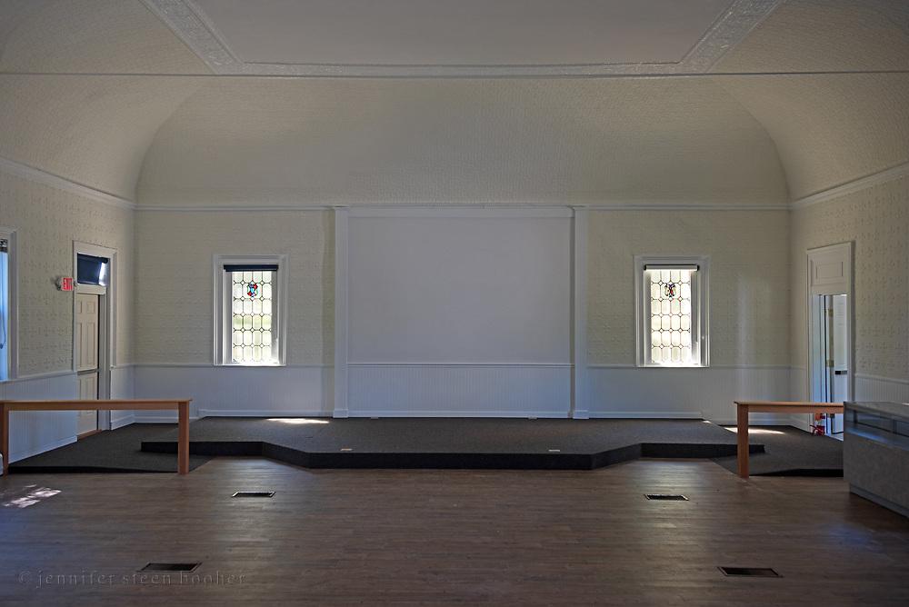 Windows 1 and 2 on plan.<br /> Manset Union Church, Manset, Maine.