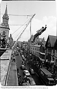 Member od Dangerous sports Club jumping out over Oxford High St. 1983<br />© Copyright Photograph by Dafydd Jones 66 Stockwell Park Rd. London SW9 0DA Tel 020 7733 0108 www.dafjones.com