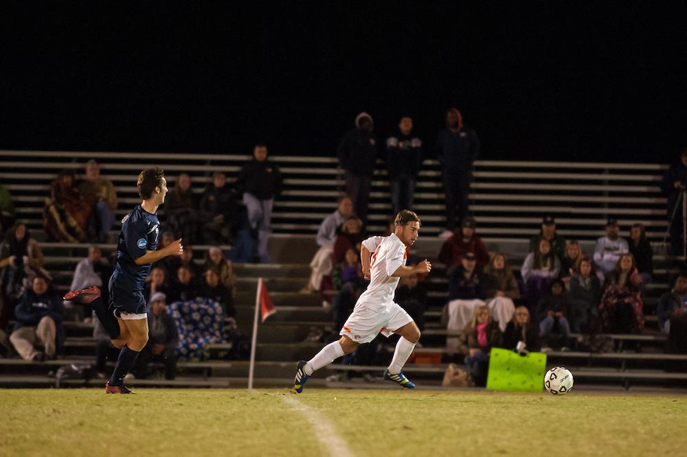 Oct 23, 2013; Morrow, GA, USA; Clayton State men's soccer player Jonny Evans against Georgia Southwestern at CSU. CSU won 3-2. Photo by Kevin Liles/kevindliles.com