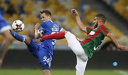August 24, 2017 - Tomasz KÄ™dziora (L) of Dynamo vies for the ball with Ricardo Valente (R)  of Maritimo  during the Europa League second play-off soccer match between FC Dynamo Kyiv and FC Maritimo, at the Olimpiyskyi stadium in Kyiv, Ukraine, August 24, 2017. (Credit Image: © Anatolii Stepanov via ZUMA Wire)