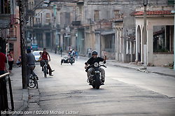 Adalberto Roque rides his Knucklehead. Havana, Cuba. 2009<br /> <br /> Limited Edition Print from an edition of 20. Photo ©2009 Michael Lichter.