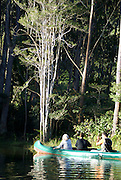Madagascar, Vakona Forest, Tourists Canoeing in the river