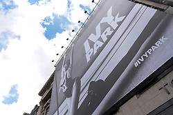 © Licensed to London News Pictures. 14/04/2016. Giant Billboard of Beyonce for the launch of her Ivy Park clothes range at Topshop flagship store in Oxford Circus.  London, UK. Photo credit: Ray Tang/LNP
