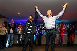 O candidato à reeleição pelo PDT em Porto Alegre, José Fortunati e o seu vice Sebastião melo durante evento politico. FOTO: Jefferson Bernardes/Preview.com