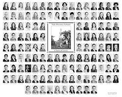 The 2012 Yale Divinity School Senior Portraits Composite Photograph. Black and White Version.