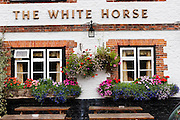 White Horse Inn at Hascomb, UK. Lunch with Richard and Fenella Hodson, Godalming, UK. (Material World Family from Great Britain UK) and photographer David Reed.