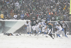 Philadelphia Eagles quarterback Nick Foles #9 throws the ball during the NFL game between the Detroit Lions and the Philadelphia Eagles on Sunday, December 8th 2013 in Philadelphia. The Eagles won 34-20. (Photo by Brian Garfinkel)