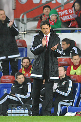 Chris Coleman manager of Wales applauds  - Mandatory by-line: Dougie Allward/JMP - Mobile: 07966 386802 - 24/03/2016 - FOOTBALL - Cardiff City Stadium - Cardiff, Wales - Wales v Northern Ireland - Vauxhall International Friendly