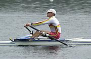 Hazewinkel. BELGUIM  GBR LM1X. Rod CHISHOLM. 2004 GBR Rowing Trials - Rowing Course, Bloso, Hazewinkel. BELGUIM. [Mandatory Credit Peter Spurrier/ Intersport Images]
