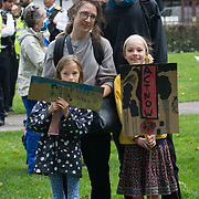 2021-08-29, Ducketts Common, London, UK. Hundreds march for Climate Justice protest against fossil fuel industry has been destroying our homes, lands and our cultures to Finbury park.