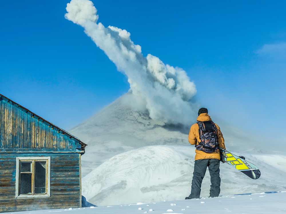 Watching, Waiting, Exploding. <br /><br />In 2014 I travelled with Travis Rice to a remote region within the Kamchatka Peninsula, home of about 160 volcanoes, 29 of them still active. Our goal was simple, to snowboard on a volcano. We spent a day and night at the base of this particular volcano, sleeping in tents outside of an abandoned cabin, soaking in all its beauty. Unfortunately it was deemed too dangerous to ride.