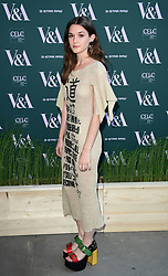 Sai Bennett attending the VIP preview for the V&A Museum's Fashioned From Nature exhibition, in London