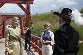 Koningin Maxima bij viering muziekonderwijs in Vesting Bourtange