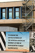 Construction progresses on the new International African American Museum on Gadsden Wharf May 29, 2021 in Charleston, South Carolina. Gadsden Wharf is where nearly half of all enslaved Africans disembarked slave ships in the Middle Passage.