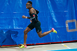 Liemarvin Bonevacia in action on the 400 meter during AA Drink Dutch Athletics Championship Indoor on 21 February 2021 in Apeldoorn.