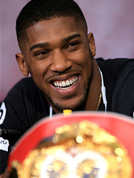 Anthony Joshua during a press conference at Sky Sports Studios, Isleworth. PRESS ASSOCIATION Photo. Picture date: Tuesday March 27, 2018. See PA story BOXING London. Photo credit should read: Nick Potts/PA Wire