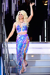 Courtney Act enters the house during the Celebrity Big Brother Men's Launch held at Elstree Studios in Borehamwood, Hertfordshire.