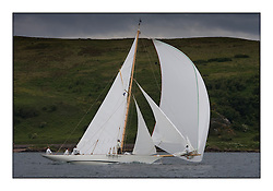 Fyne  1889  Gaff Cutter...The Round the Cumbraes race to open the regatta. Light variable breeze and grey skies shrouded the fleet with a strong spectator fleet...* The Fife Yachts are one of the world's most prestigious group of Classic .yachts and this will be the third private regatta following the success of the 98, .and 03 events.  .A pilgrimage to their birthplace of these historic yachts, the 'Stradivarius' of .sail, from Scotland's pre-eminent yacht designer and builder, William Fife III, .on the Clyde 20th -27th June.   . ..More information is available on the website: www.fiferegatta.com . .Press office contact: 01475 689100         Lynda Melvin or Paul Jeffes