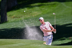 May 2, 2019 - Charlotte, NC, U.S. - CHARLOTTE, NC - MAY 02: Daniel Berger hits from the bunker on the 15th green during the first round of the Wells Fargo Championship at Quail Hollow on May 2, 2019 in Charlotte, NC. (Photo by William Howard/Icon Sportswire) (Credit Image: © William Howard/Icon SMI via ZUMA Press)
