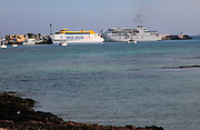 Fred Olsen Express and Armas ferry ships, Corralejo, Fuerteventura, Canary Islands, Spain
