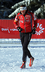 Slovenian cross-country skier Petra Majdic warming up at 10th OPA - Continental Cup 2008-2009, on January 17, 2009, in Rogla, Slovenia.  (Photo by Vid Ponikvar / Sportida)