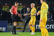 10 - Livingston - Craig Sibbald speaks with Referee